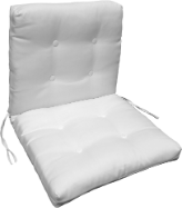 French Seam Button Tufted Chair Cushion 22 x 40 x 4