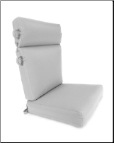 "Deluxe 2-Piece High Back Club Chair Cushion Set 21"" Wide"