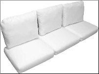 Deluxe Wicker Sofa Cushion Set 340