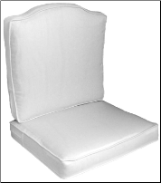 2 Piece Curved Back Deep Seat Boxed Cushion Set