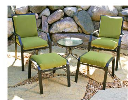 Cast Aluminum Furniture Cushions - Outdoor Chair Pads, Ottoman Cushion, Chair Seat Pads
