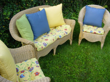 Wicker Furniture Cushions - Wicker Chair Cushions, Chair Seat Pads, Wicker Loveseat Cushions