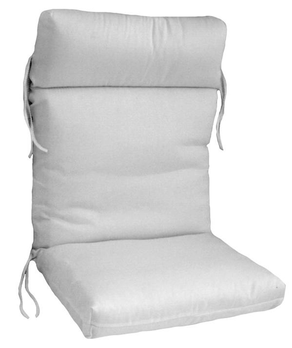 Hinged cartridge style club chair cushion - Hinged outdoor cushions ...