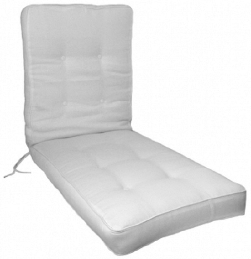 Box button tufted chaise lounge cushion for Chaise longue cushions