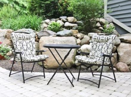 Wrought Iron Cushions Barrel Chair